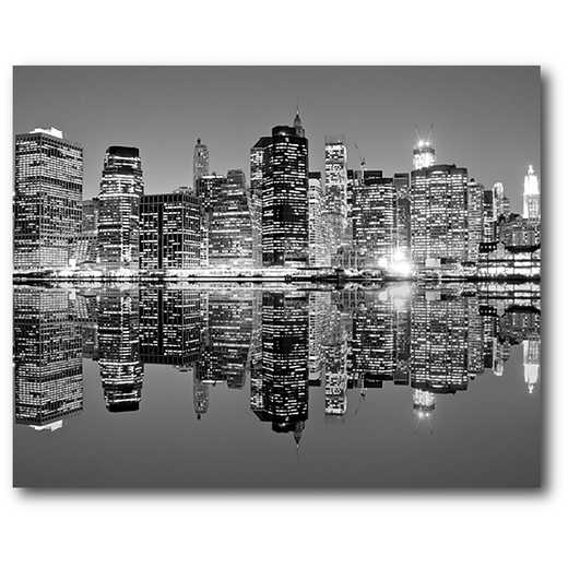 WEB-BW155: B/W City Scape Canvas 16X20