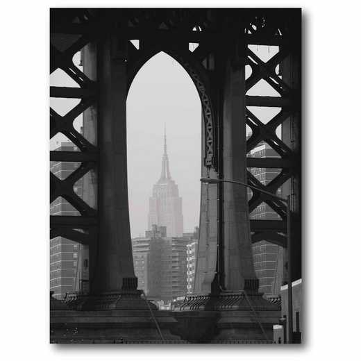 WEB-CS115: BW View Through the Bridge Canvas 16x20