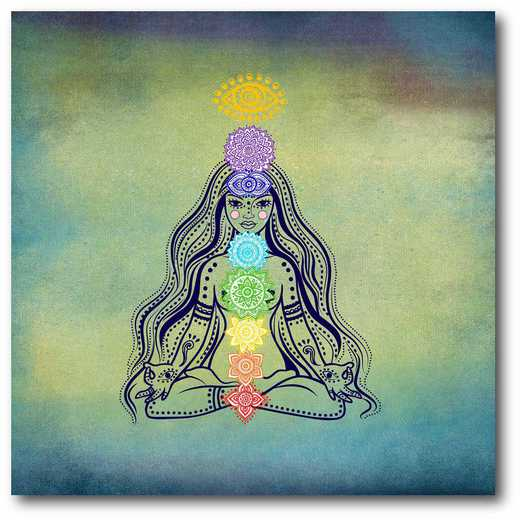 WEB-G221: Yoga Blues III Canvas 16x16