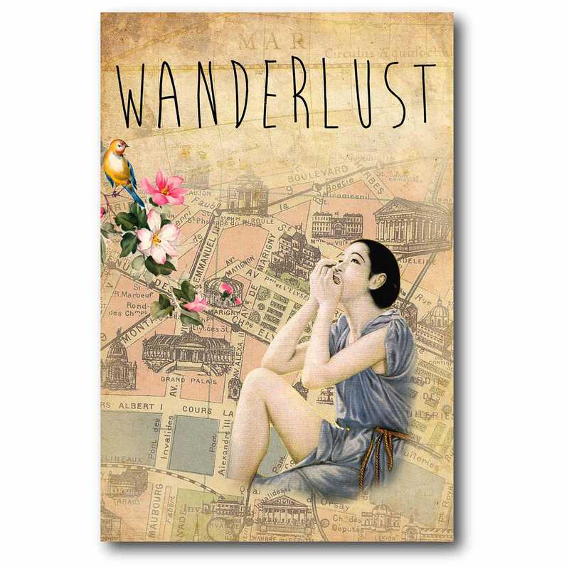 WEB-G240: Maps Wonderlust Canvas 12x18