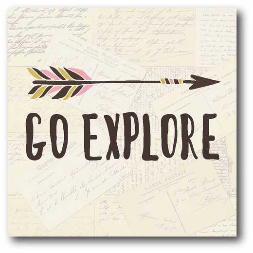 WEB-JV363: Go Explore Canvas 12x12