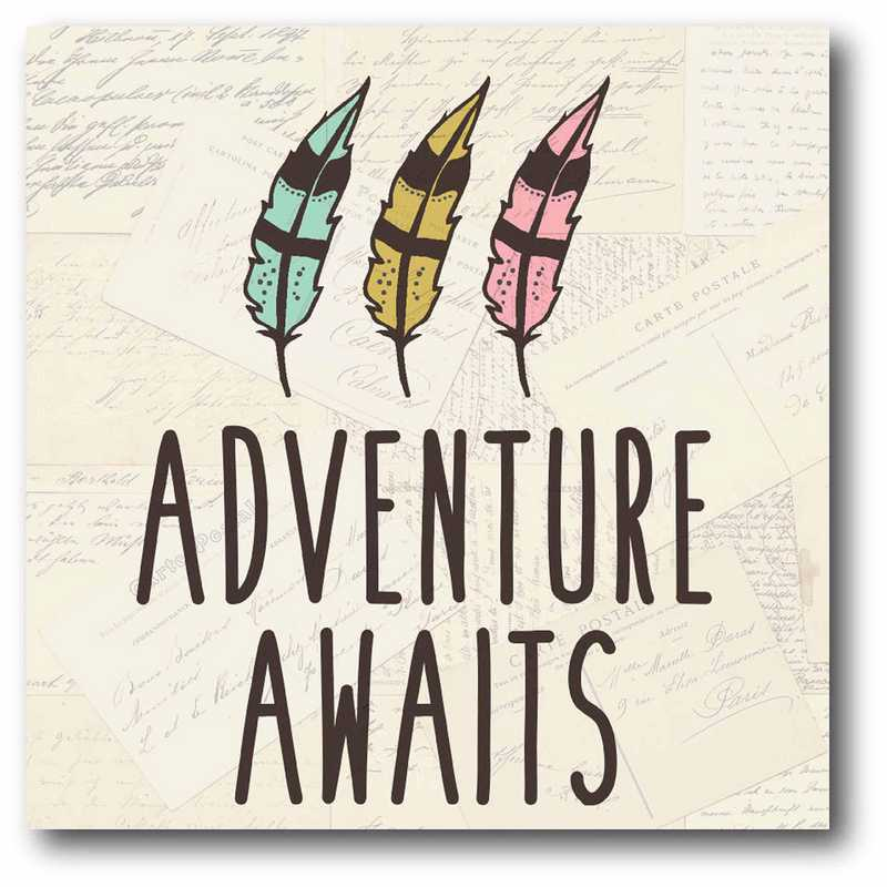 WEB-JV364: Adventure Awaits Canvas 12x12