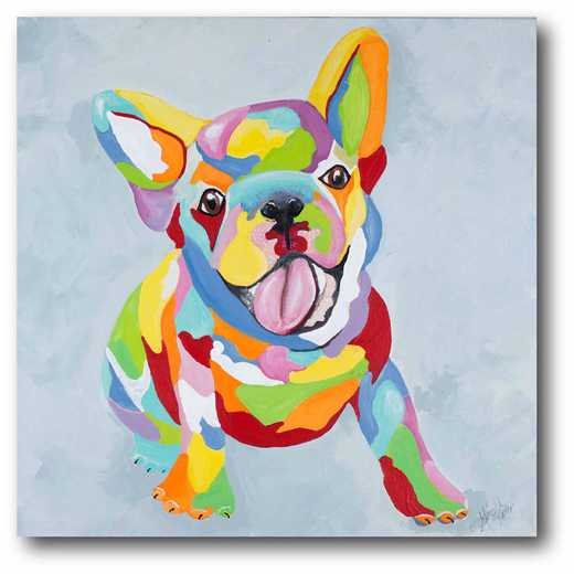 WEB-JV440: French Bulldog Multi Canvas 12x12