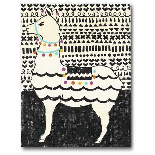 WEB-JV505: Party Llama Left Canvas 11x14