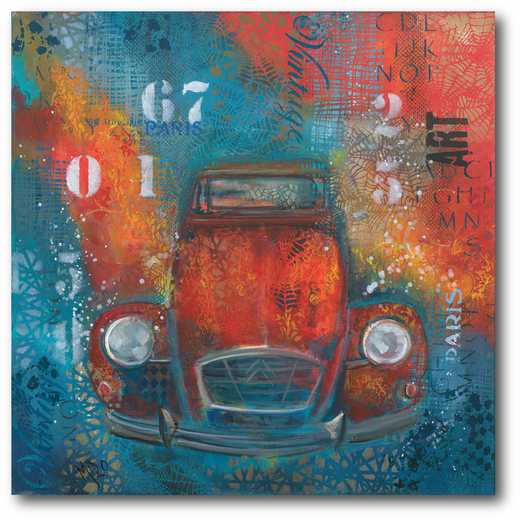 WEB-P164: Vintage Beetle Canvas 16x16