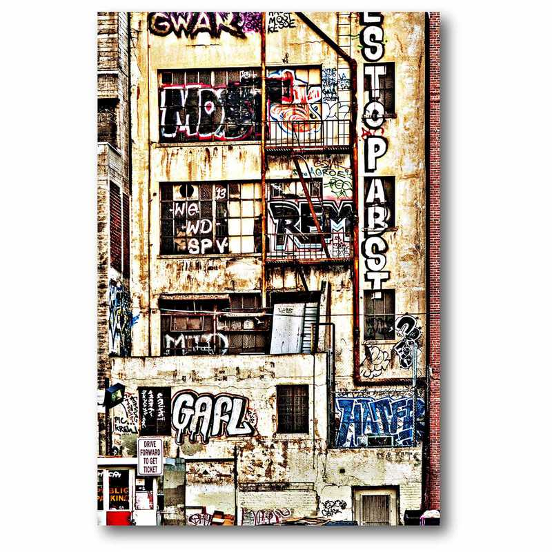 WEB-P178: Graffiti Walk Up Canvas 12x18