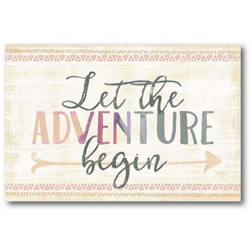 WEB-T723: Let the Adventure Begin Canvas 12X18