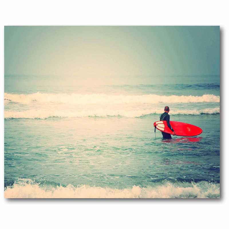 DEC-CT521: Surfer at Beach Large Wall Decal 48x60
