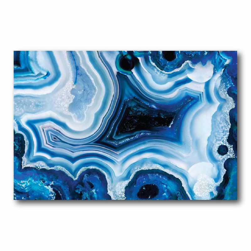 DEC-SA102: Agate Blue Large Wall Decal 40x60