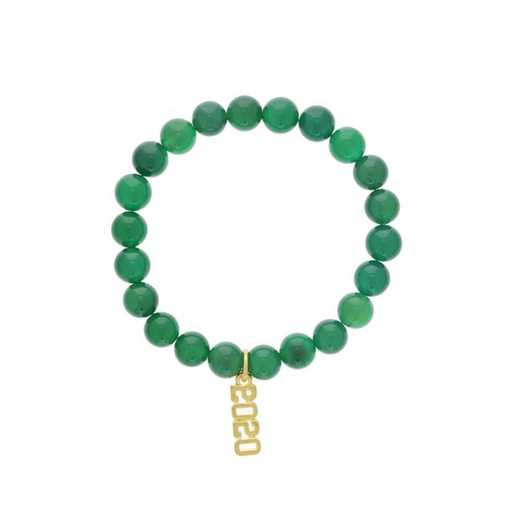 DBJ-BRC-2800EGQ: Gold tone Pewter Graduation char yearm with green quartzite