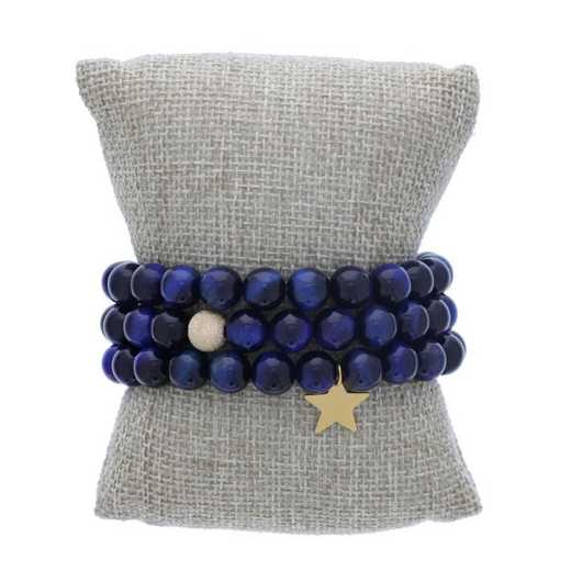 DBJ-STK-2814BTE: Gold filled shimmer bead and 14kt gold plated star charm