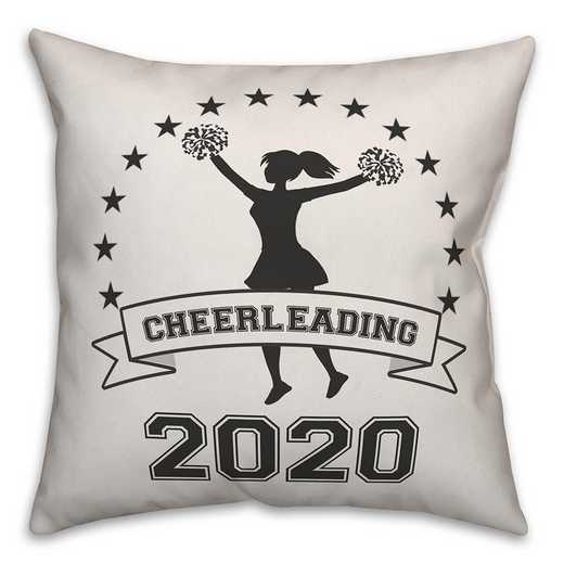 4627-W: 18X18 Personalized Pillow- Cheerleading