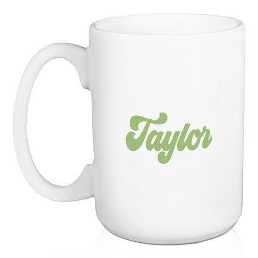 5581-AU: Retro Kappa Delta 15 oz Personalized Mug