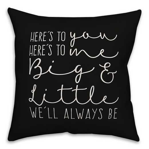 5579-AS: Big and Little We'll Always Be 18x18 Throw Pillow