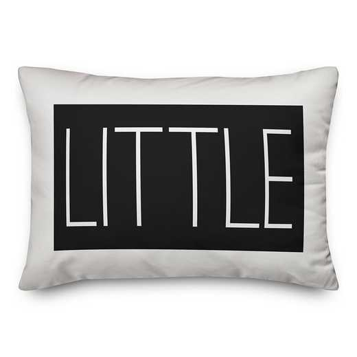5579-B: Little Typography 14x20 Throw Pillow