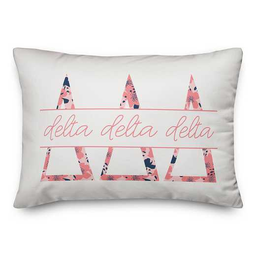 5579-M13: Floral Greek Letters - Delta Delta Delta 14x20 Throw Pillow