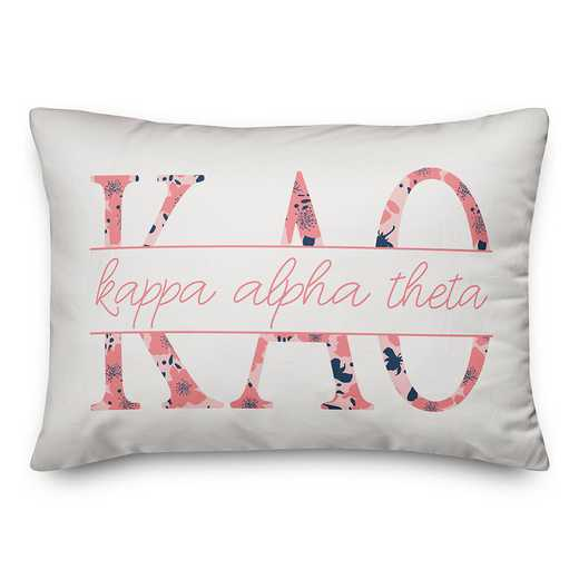 5579-M6: Floral Greek Letters - Kappa Alpha Theta 14x20 Throw Pillow