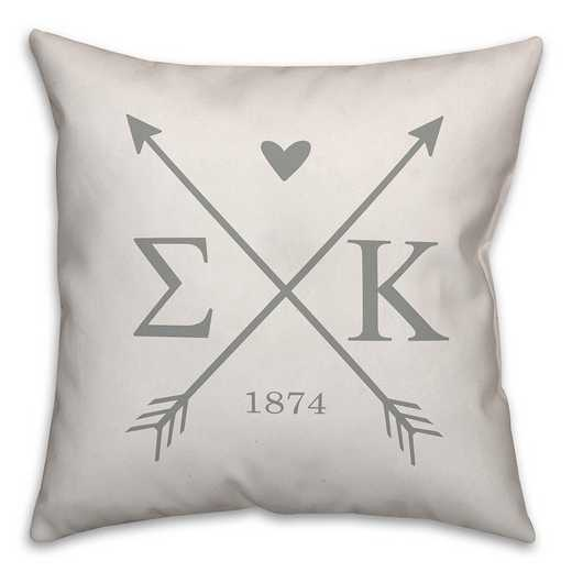 5579-N10: Crossed Arrows - Sigma Kappa 18x18 Throw Pillow