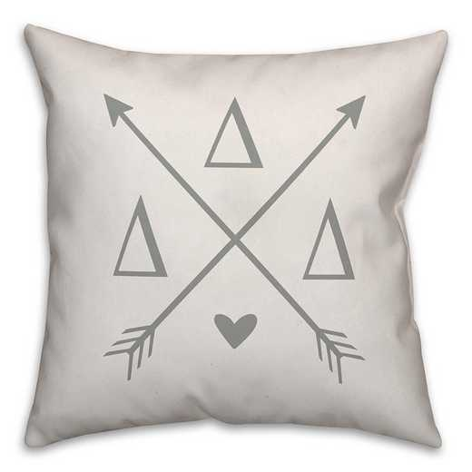 5579-N12: Crossed Arrows - Delta Delta Delta 18x18 Throw Pillow