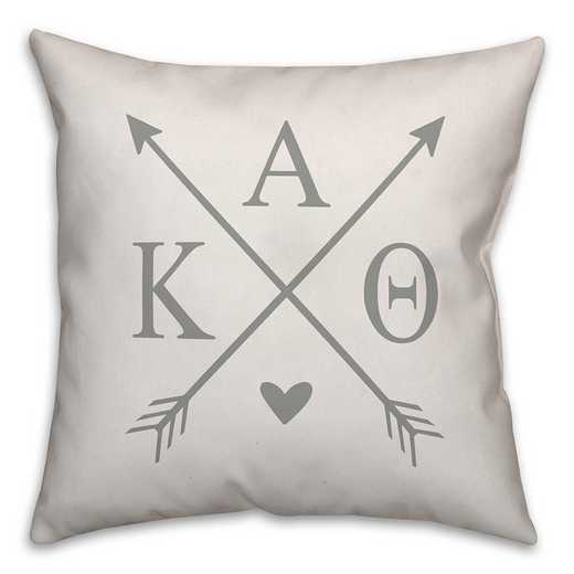 5579-N14: Crossed Arrows - Kappa Alpha Theta 18x18 Throw Pillow