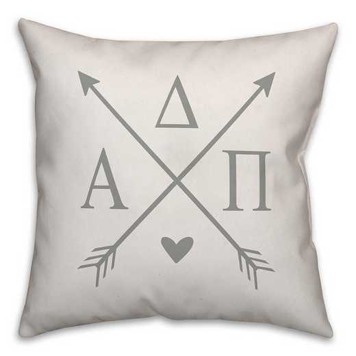 5579-N1: Crossed Arrows - Alpha Delta Pi 18x18 Throw Pillow