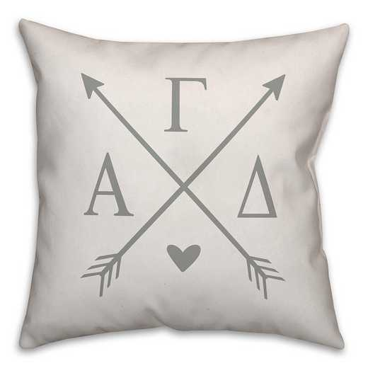 5579-N2: Crossed Arrows - Alpha Gamma Delta 18x18 Throw Pillow