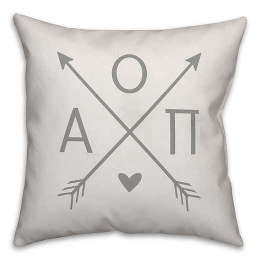 5579-N3: Crossed Arrows - Alpha Omicron Pi 18x18 Throw Pillow
