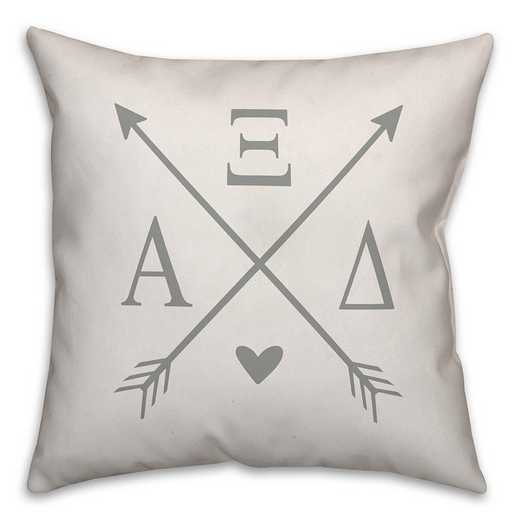 5579-N4: Crossed Arrows - Alpha Xi Delta 18x18 Throw Pillow