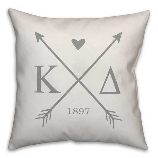 5579-N6: Crossed Arrows - Kappa Delta 18x18 Throw Pillow