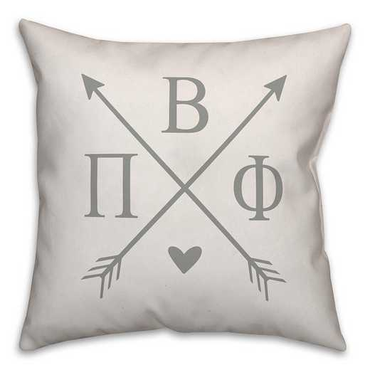 5579-N7: Crossed Arrows - Pi Beta Phi 18x18 Throw Pillow