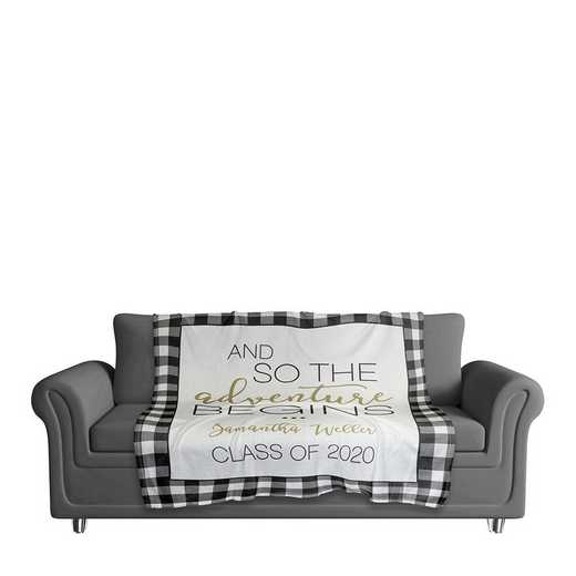 4627-D: 50x60 Throw Personalized - Class of