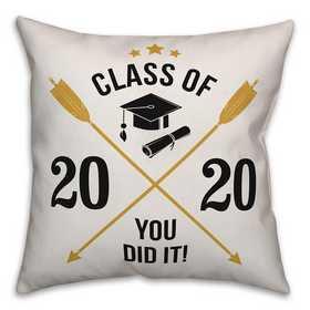4627-Z: 18x18 Pillow Class of - Arrows