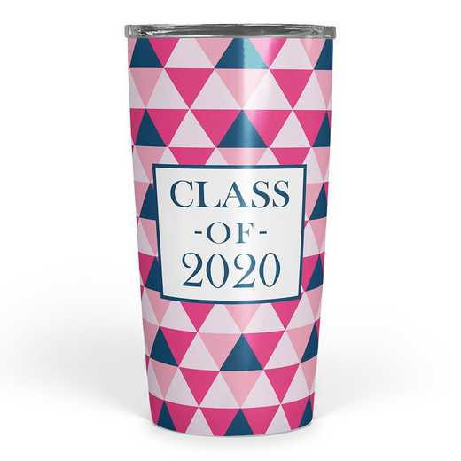 4628-Y: Class of 2020 Tonal Triangles Insulated Tumbler