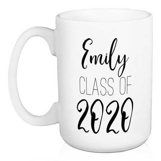 Personalized Mug -name - Class of: Unisex
