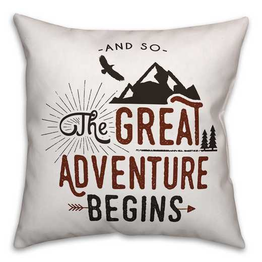 4627-V: 18X18 Pillow The Great Adventures Begins