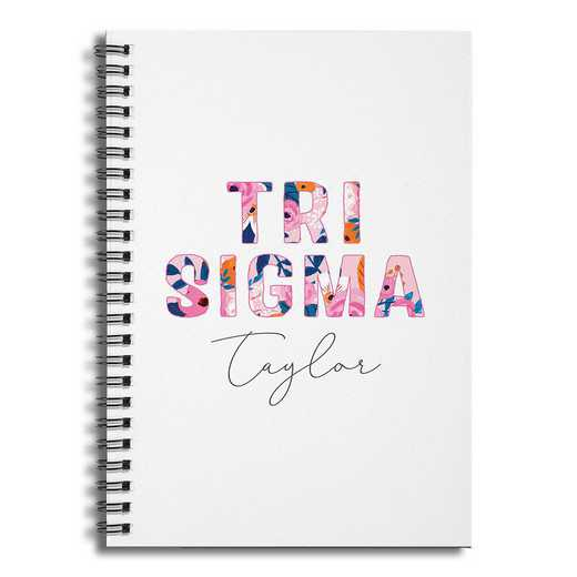 5581-BZ: Floral Tri Sigma 6x8 Pers Ruled Spiral Notebook