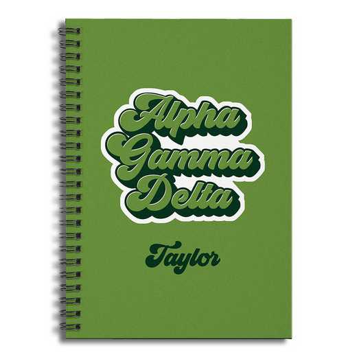 5581-CC: Retro Alpha Gamma Delta 6x8 Pers Ruled Spiral Notebook