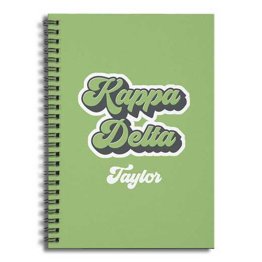5581-CI: Retro Kappa Delta 6x8 Pers Ruled Spiral Notebook