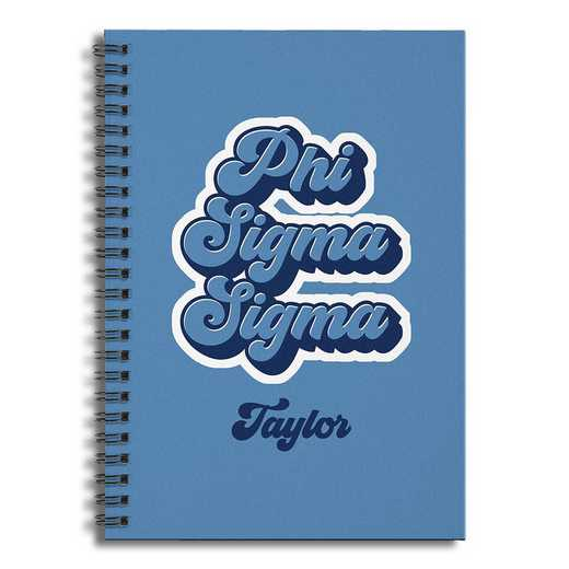 5581-CJ: Retro Phi Sigma Sigma 6x8 Pers Ruled Spiral Notebook