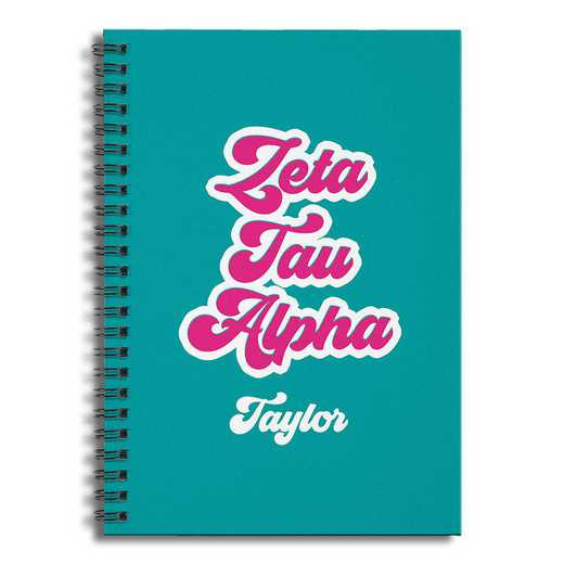 5581-CO: Retro Zeta Tau Alpha 6x8 Pers Ruled Spiral Notebook
