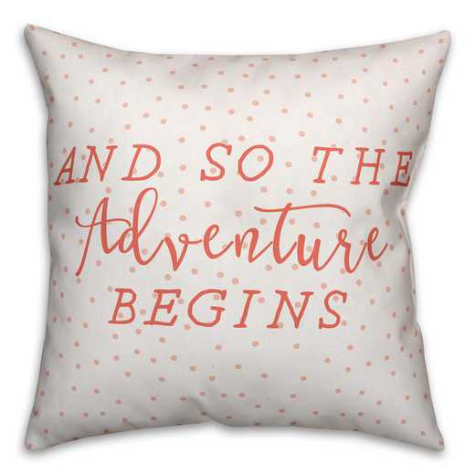 3963-I: 18X18 PillowAnd So The Adventure Biggins