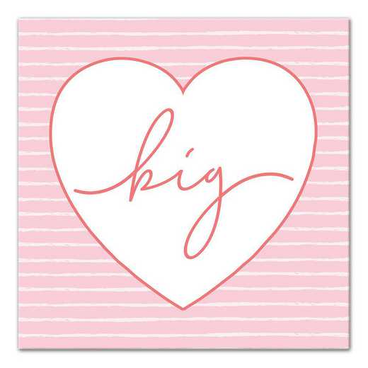 5578-AR: Big Script Heart 12x12 Canvas Wall Art