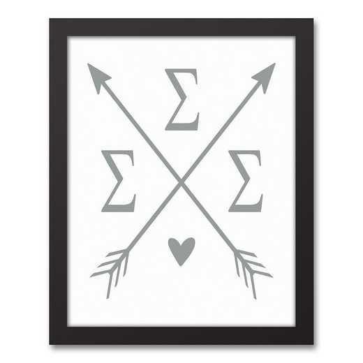 5578-O12: Crossed Arrows Sigma Sigma Sigma 11x14 Black Framed Canvas