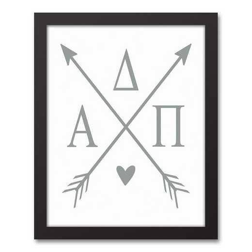5578-O1: Crossed Arrows Alpha Delta Pi 11x14 Black Framed Canvas