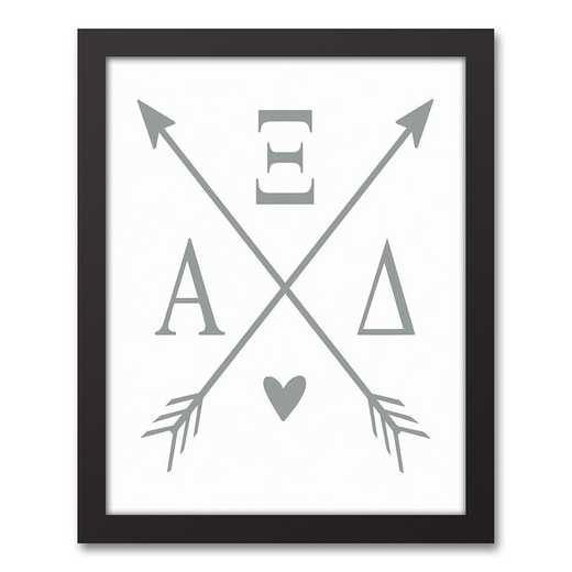 5578-O4: Crossed Arrows Alpha Xi Delta 11x14 Black Framed Canvas