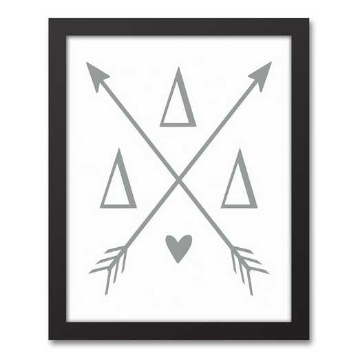 5578-O5: Crossed Arrows Delta Delta Delta 11x14 Black Framed Canvas