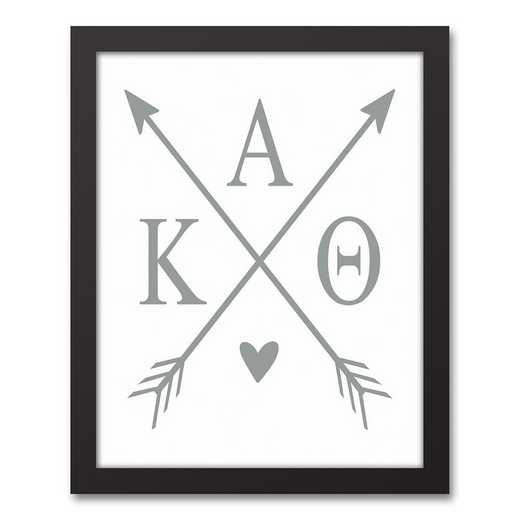 5578-O6: Crossed Arrows Kappa Alpha Theta 11x14 Black Framed Canvas