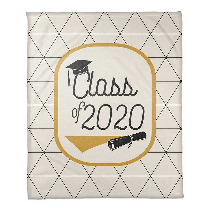 4627-AX: 50x60 Throw Class of 2019 - Triangles