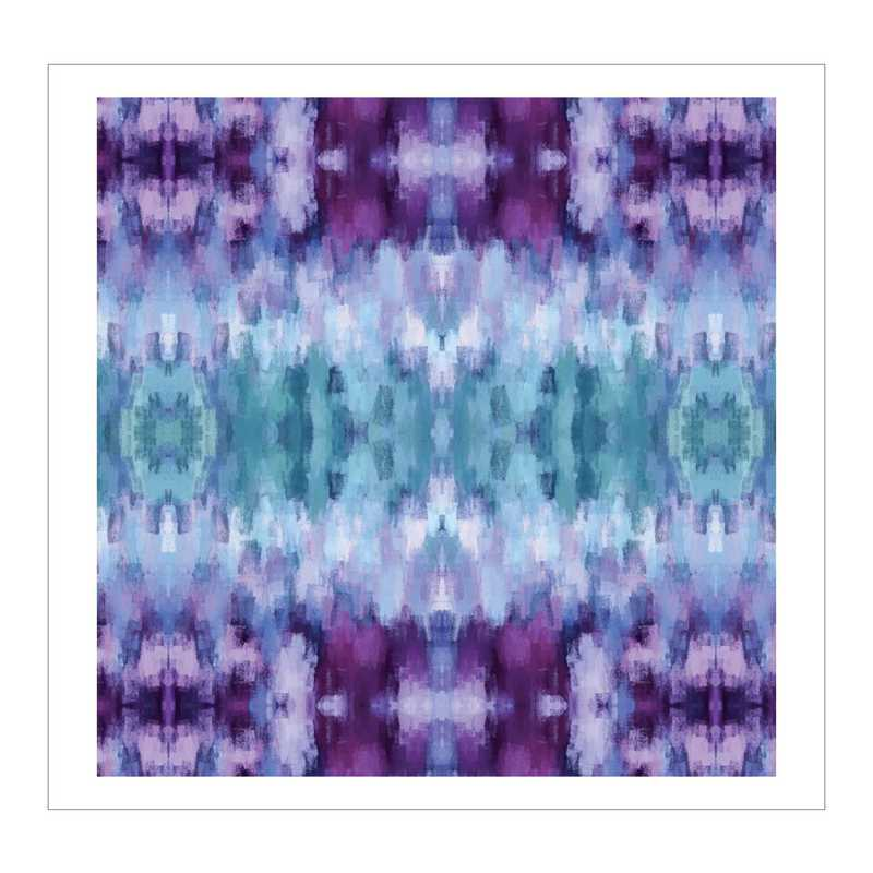 DEC-G215-50x50: IKAT Purp/Gre Large Wall Decal 50x50
