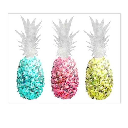 DEC-TYP344: Three pineapples Wall Decal 20x30